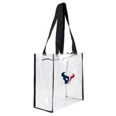 Little Earth Productions 301311-Txns Houston Texans Clear Square Stadium Tote, Women's, As Shown