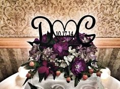 Wedding cake topper with initials