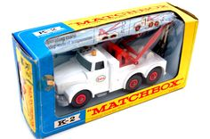 Vintage Toys Wanted by the-toy-exchange - Lesney Matchbox K-2 KNG SIZE 'ESSO' SCAMMELL HEAVY WRECK TRUCK model.