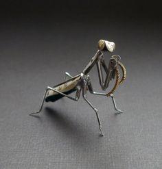 15 Best Praying Mantis Art Images Praying Mantis Insects Metal Art