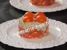 Tartare de tomate au thon