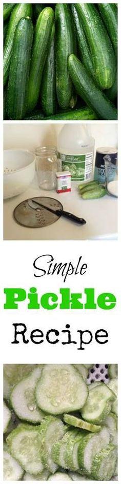 Super easy Dill pickles recipe