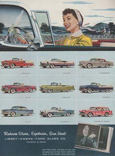 LOFglass ad. That tri-tone Packard is fantabulous! I need it.