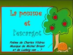 La pomme et l'escargot - Chanson Study French, Core French, Learn French, French Websites, French Songs, Tongue Twisters, French Classroom, French Resources, Language Lessons
