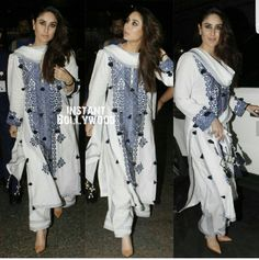 Airport looks indian style Ethnic Fashion, Look Fashion, Indian Fashion, Fashion Outfits, Indian Attire, Indian Ethnic Wear, Indian Outfits, Indian Style, Suits For Women
