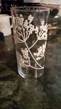 Dollartree vase and a sticker I got from a dollar store.