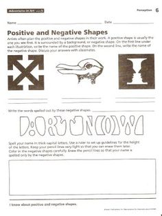 Harvest Artists Blog: 6th grade - Negative Space - HOMEWORK!!!