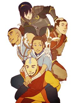 Team Avatar or the Gaang as adults. Avatar: The Last Airbender (ATLA) /Legend of Korra. Avatar Aang, Avatar Airbender, Team Avatar, Aang The Last Airbender, Avatar Fan Art, Legend Of Aang, Arte Ninja, The Last Avatar, Avatar Series