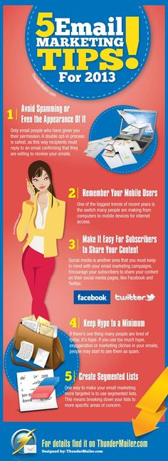 5 #Emailmarketing tips for 2013 to increase your open rates #infographics www.socialmediama...