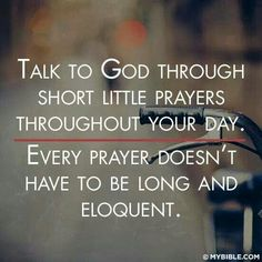 GOD knows what's in our heart...we don't need to long, repetitious prayers