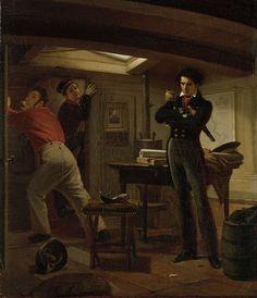 Jan van Speijk overlegt of hij de lont in het kruit zal steken, Jacobus Schoemaker Doyer, 1834