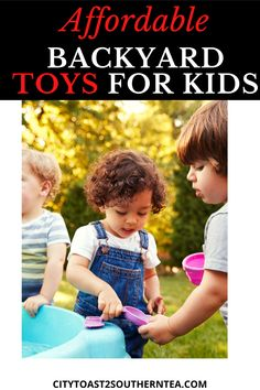 Don't have many toy options for your children to choose from in the backyard? Check out the best backyard toys for kids on the cheap. Natural Parenting, Gentle Parenting, Parenting Hacks, Parenting Toddlers, Backyard Toys For Kids, Backyard Ideas, Garden Ideas, Fun Activities For Kids, Outdoor Activities