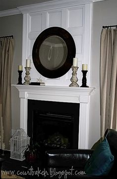 perfect molding for blank space over a fireplace