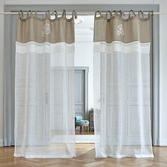 Curtains, 1 pair of AINA beige - Curtains Sliding Curtains, Beige Curtains, French Curtains, Burlap Curtains, Modern Curtains, Drapes Curtains, Deep Closet, Shabby Chic Farmhouse, Window Coverings