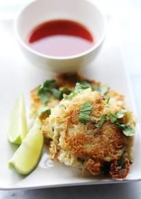 Thai Green Curry noedel-viskoekjes