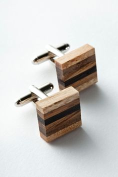 Wooden cufflinks 6 wood ply on Etsy, $48.24