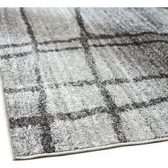 Mercury Row Zuri Chalkboard Checkers Light Grey Area Rug & Reviews | Wayfair.ca