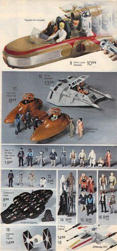 Star Wars action figures from a 1980 catalog.  My cousin, Patrick, had ALL of these.  http://www.retrowaste.com/1980s/toys-in-the-1980s/
