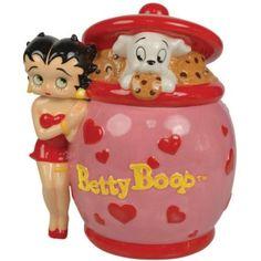 Amazon.com: Westland Giftware Betty Boop Betty Boop Cookie Jar, 8-3/4-Inch: Kitchen & Dining