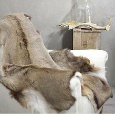 Natural British deer hides