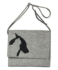 Another great find on #zulily! Light Gray Cats & Dogs Shoulder Bag #zulilyfinds