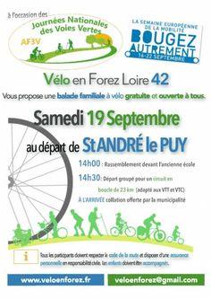 affiche Journée des Voies Vertes dans la Loire