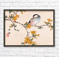 Hey, I found this really awesome Etsy listing at https://www.etsy.com/listing/224317280/japanese-art-print-232-antique-bird-and