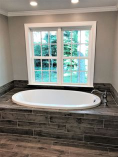 Drop in tub with tile deck and surround - Bathroom renovation by Atlanta general contractor, Penn Carpentry Tub Remodel, Shower Remodel, Remodel Bathroom, Budget Bathroom, Bathroom Ideas, Bath Tub Tile Ideas, Bathtub Ideas, Bathroom Stuff, Bathroom Layout