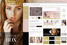 StyleBox Blog Graphics/Website Kit 1 by Creators Couture on Creative Market