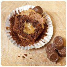 Heavenly! These are a must try! Caramel filled Rolo Brownie Cupcakes