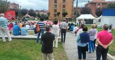 El ciclo 'Noches de verano' arranca con cientos de espectadores viendo las danzas de Laguntasuna