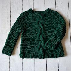 sweter szmaragdowo-zielony - molsi - Swetry i bezrękawniki