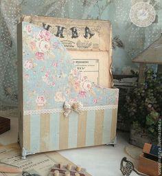 Журнальницы ручной работы. Ярмарка Мастеров - ручная работа Журнальница Vintage blue. Handmade.