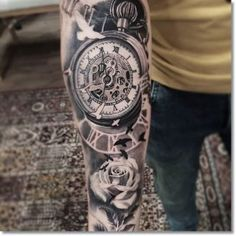 steampunk-pocket-watch-tattoo-for-men