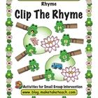 Your students will have a hopping good time clipping the rhyming frogs on the lilly pads.  This activity contains 10 different rhyming lilly pads. ..