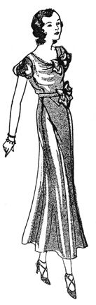 Past Patterns: #121: Hollywood Inspired Dress: Circa 1932-1933