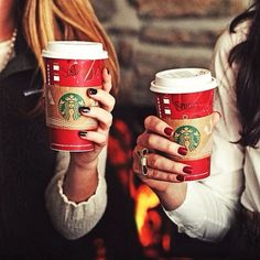 best friends & holiday cups.