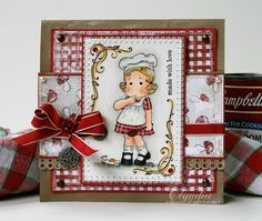 Oops Tilda, Yummy for your Tummy collection, Magnolia stamps