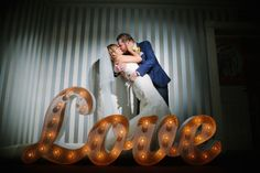 Light Up Your Love with Vintage Lights.  Marquee Lettering Ideas
