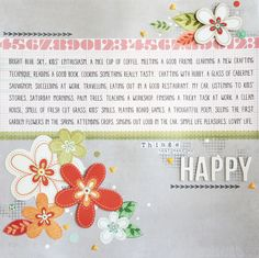 Layout for Creative Scrappers DT: Things that make me happy #Scrapbooking #CreativeScrappers