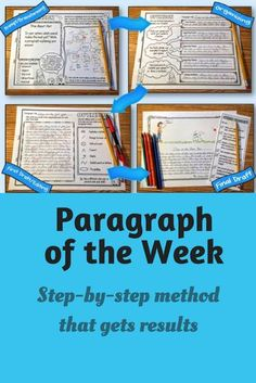 Writing good paragraphs is an essential skill, and one that takes time and effort to master. But it doesn't have to be hard. Here is a time-tested method for getting your students to write better paragraphs. #paragraphoftheweek #paragraphwriting