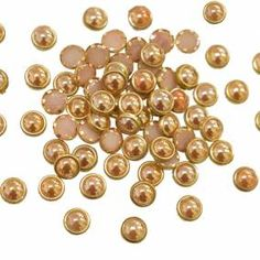 Creamy Gold Color flat back Kundan Stone Embroidery Materials, Nespresso, Jewelry Making, Flat, Stone, Gold, Crafts, Collection, Bass