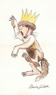 Ilustración de Max, el protagonista del libro Donde viven los monstruos, creada por Maurice Sendak para un fan en la década de los setenta