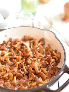 Kurki smażone saute (dodatek do ryb i mięs)