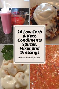 24 Low Carb Keto Condiments, Sauces, Mixes and Dressings: All you need to dress your food healthy and delicious!
