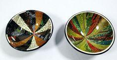 """Ring / trinket bowls approx 60 mm (2.4"""") diameter. By Wendy Jorre de St Jorre."""