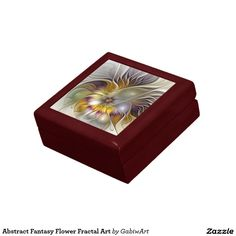 Abstract Fantasy Flower Fractal Art Keepsake Box