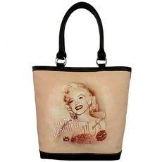 MARILYN MONROE HANDBAG-BLACK $39.95 http://www.sparklyexpressions.com/#1019