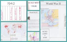History timelines, lapbooks, and notebooking pages