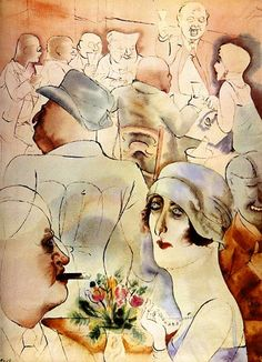 George Grosz : My Drawings expressed my despair, hate and disillusionment, I drew drunkards; men with clenched fists cursing. Max Beckmann, Mark Ryden, Franz Marc, Paula Modersohn Becker, Wassily Kandinsky, August Macke, Ludwig Meidner, Karl Schmidt Rottluff, Illustrators